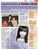 A könyvborító és újságcikkek / the book and journal articles